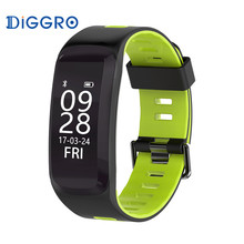 Bluetooth 4.0 Diggro F4 Smart Sport Bracelet IP68 Heart Rate Monitor Blood pressure Oxygen Outdoor Altitude UV Call Wristband