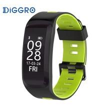 Bluetooth 4.0 Diggro F4 Smart Sport Bracelet IP68 Heart Rate Monitor Blood pressure Oxygen Outdoor Altitude UV Call Wristband