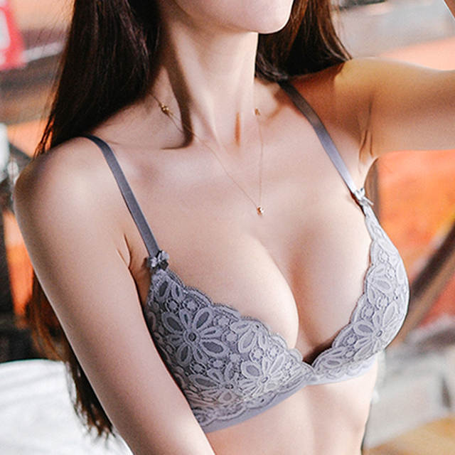 Online Shop Fashion Young Girl Seamless Bra And Panties Set Sexy Lingerie  Gray Thin Cotton Underwear Women Sets Lace Embroidery Bras Green  82b7969c5