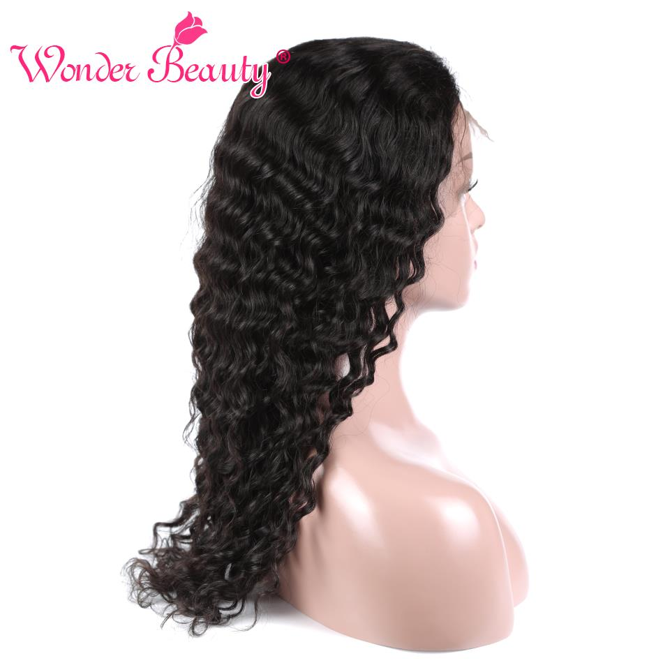 Wonder Beauty Malaysian Deep Wave Hair Closures With 3 Bundles Human hair bundles with lace closure Non Remy hair Extension