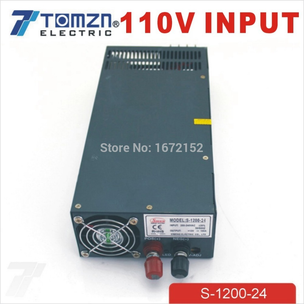 1200W 24V 50A adjustable 110V input Single Output Switching power supply for LED Strip light AC to DC 400w 24v 16 7a single output adjustable ac 110v 220v to dc 24v switching power supply unit for led strip light