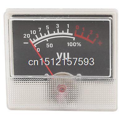 500uA 700 Ohm No Lamp 55mmx50mm Analog Amplifier VU Header Panel Meter