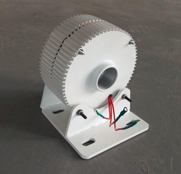 Nouveau générateur d'énergie 12 V 24VDC 300 W alternateur à aimant Permanent PMG avec Base de montage - 2