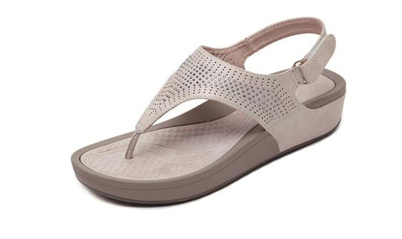 HTB1e0s2bdfvK1RjSspoq6zfNpXaj TIMETANGNew Summer Wedge Rhinestone Women Sandals Open Toe Gladiator Sandals Women Casual Women Platform Sandals Beach flipflops