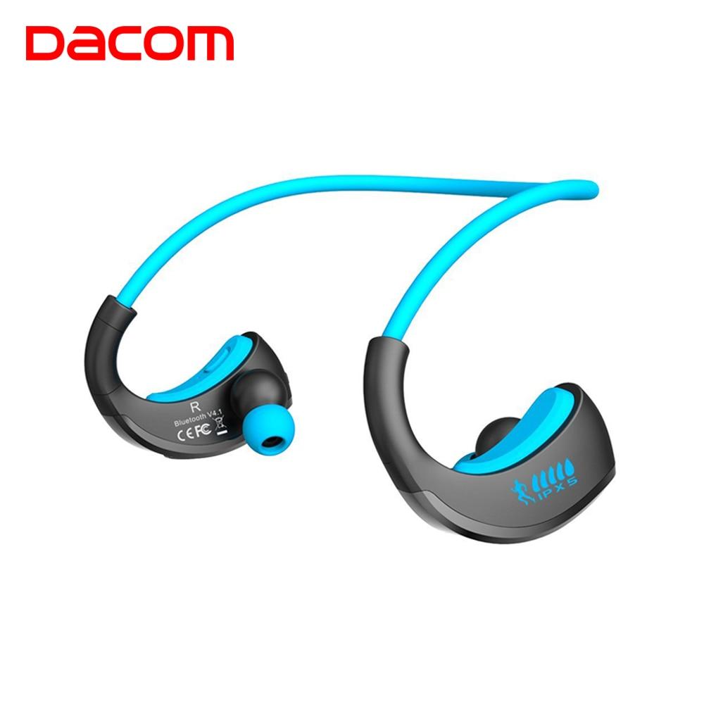 Dacom armadura impermeable del deporte auriculares inalámbricos auriculares Bluetooth auricular de Audio estéreo de auriculares con micrófono de manos libres para correr