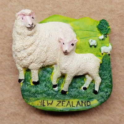 <font><b>New</b></font> <font><b>Zealand</b></font> two sheep tourist <font><b>souvenir</b></font> refrigerator image