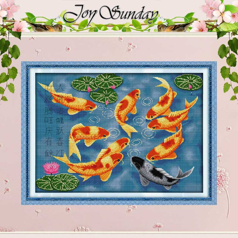 Surplus Year After Year Counted Cross Stitch 11 14CT Cross Stitch Set Wholesale Fishes Cross-stitch Kits Embroidery Needlework