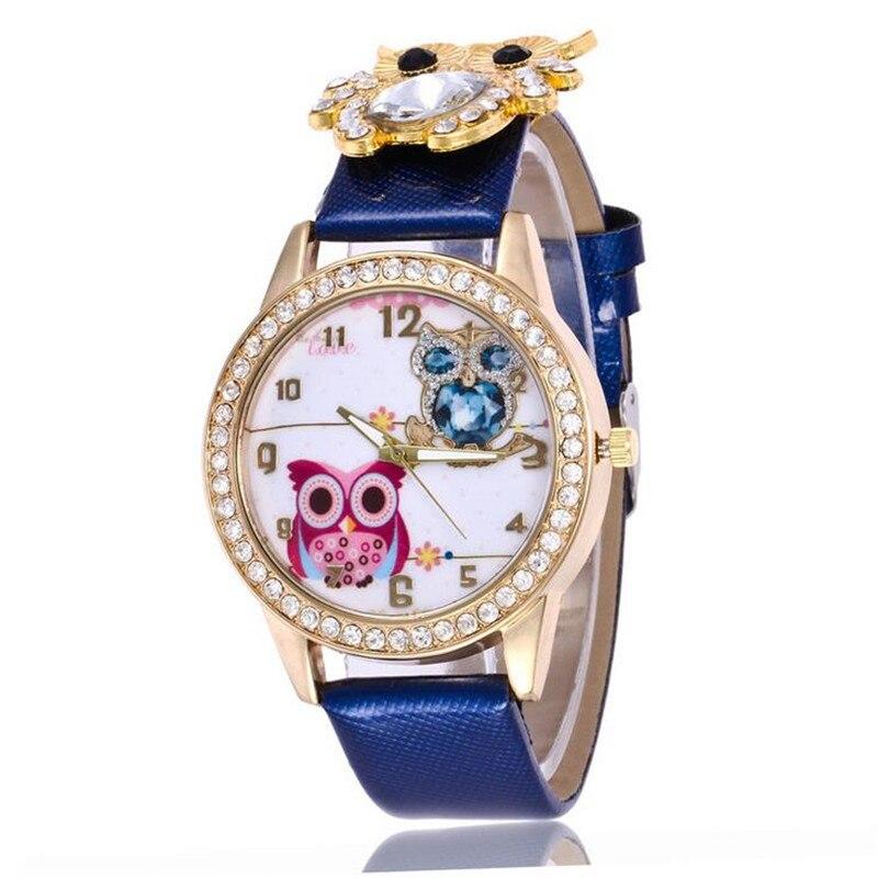 New Women's Watch Classic Owl Pattern Strap Owl Wrap Bracelet Watch 6