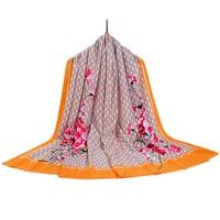 Winter Scarf Fashion Brand Hot Sale Clothing Accessories Flower Cotton Scarf Women 185cm 90cm High Quality