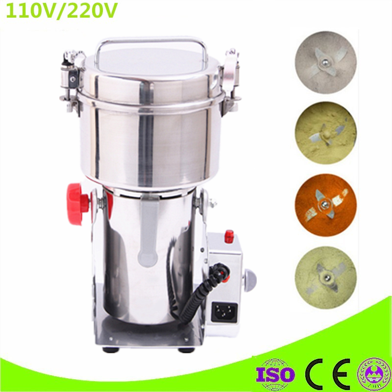 110V 220V EU US UK Plug Chinese Medicine Grinder Electric Whole Grains Mill Powder Food Grinding Machine Ultrafine Herbs Crusher high quality 300g swing type stainless steel electric medicine grinder powder machine ultrafine grinding mill machine
