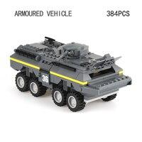Hot World wars Armored car vehicle model self locking bricks modern military ww2 army figures building block assemble toys