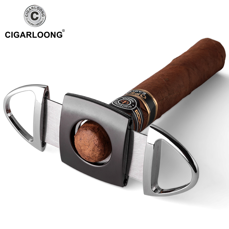 COHIBA Cigar Cutter Brand New Stainless Steel Metal Classic Cigar Cutter Guillotine With Gift Box Cigar Scissors Gift CL 010 in Cigar Accessories from Home Garden