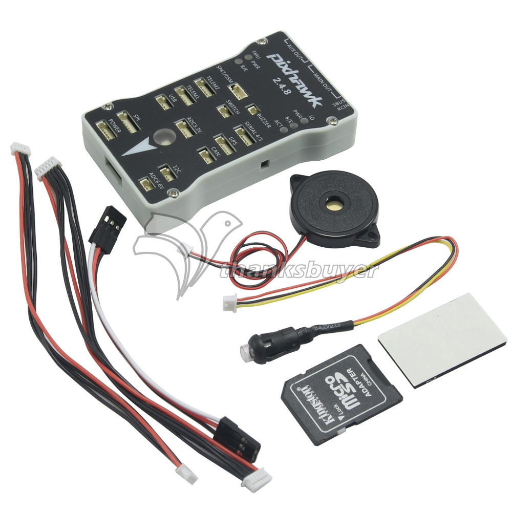 ФОТО Pixhawk PX4 2.4.8 32Bit ARM Flight Controller Integrate PX4FMU+PX4IO with SD Card for RC Multicopter