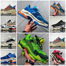a02a524c187b0 2018 Paris 17FW Triple-S Triplo S Pai Luxo Sapatos para homens Da Sapatilha  Tênis Esportes Das Mulheres Bege tênis de corrida