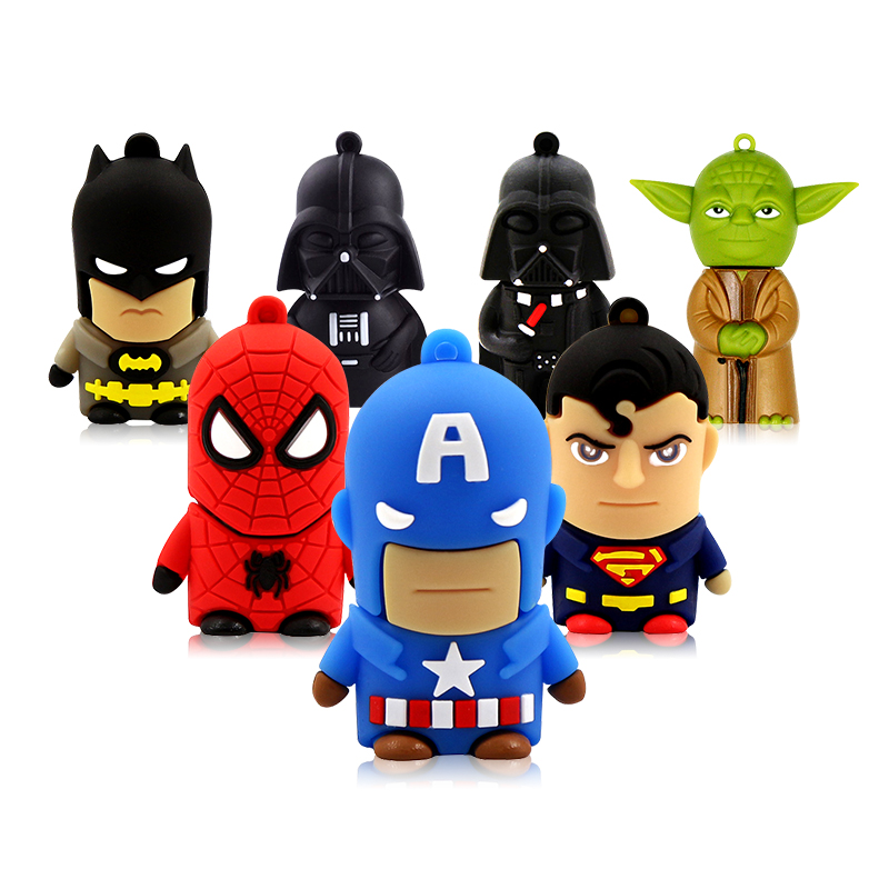 HERO CARTOON Spiderman uSb flash drive 128 gb flash memoria 32 GB pendrive 64GB batman Flash memory DISK Pen drive 16gb Usb 2.0HERO CARTOON Spiderman uSb flash drive 128 gb flash memoria 32 GB pendrive 64GB batman Flash memory DISK Pen drive 16gb Usb 2.0
