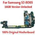 Para samsung glaxy s3 i9305 4g rede de apoio motherboard mainboard 16 gb desbloqueado 100% original oficial com chips de lógica placa