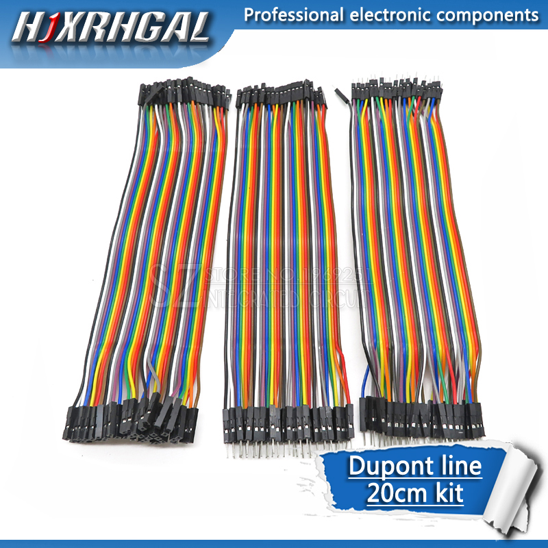 Dupont Line 120pcs 20cm Male To Male + Male To Female And Female To Female Jumper Wire Dupont Cable For Arduino Diy Kit Hjxrhgal