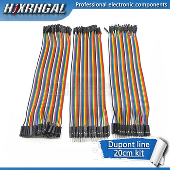 Dupont line 120 шт 20 см папа-папа + папа-мама и женщина-женщина перемычка провод Dupont кабель для Arduino diy kit hjxrhgal