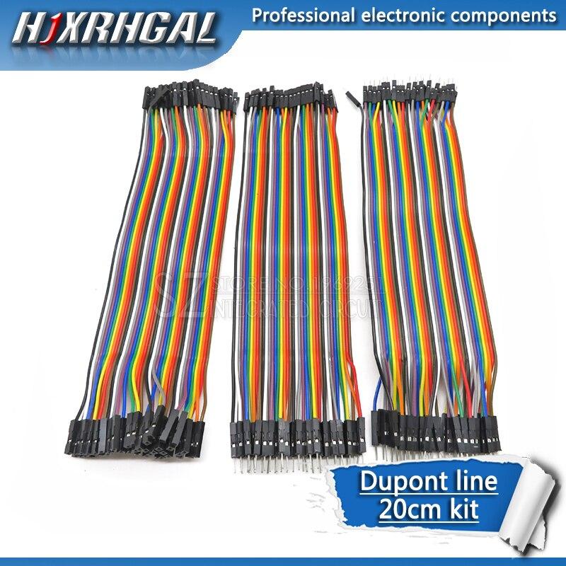 Dupont lin pont 120 peças 20cm, macho para macho + macho para fêmea e fêmea para fêmea, jumper wire dupont cabo para arduino kit diy hjxcarrega