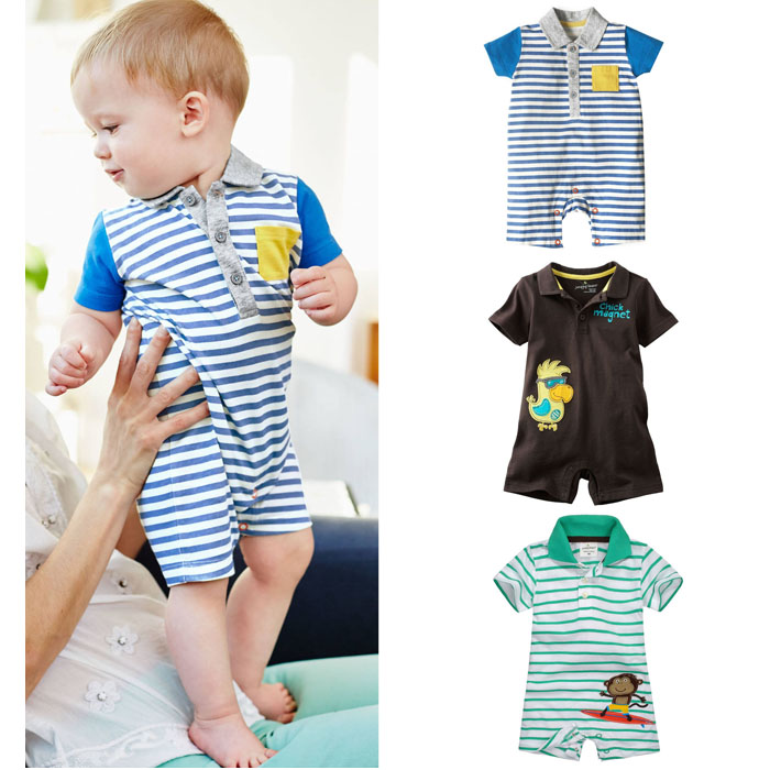 New 2017 Brand Quality 100% Cotton Newborn Baby Boys Clothing Ropa Bebe Creepers Jumpsuit Short Sleeve Rompers Baby Boys Clothes 100% cotton ropa bebe baby girl rompers newborn 2017 new baby boys clothing summer short sleeve baby boys jumpsuits dq2901