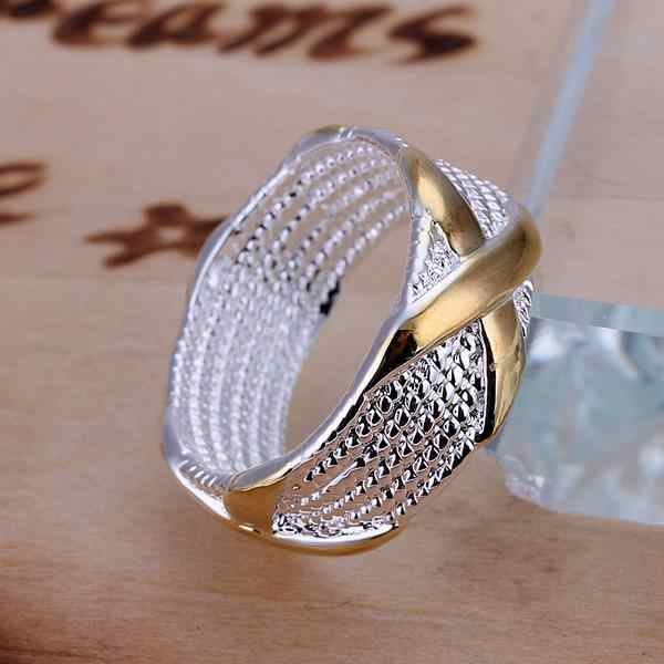 X แหวน 925 เงินสเตอร์ลิงแหวนผู้หญิงเครื่องประดับ Anel Anillos Aneis Bague Anelli Anillo