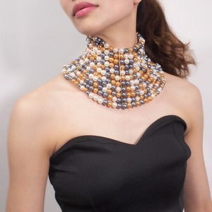 Image 2 - MANILAI collier de marque pour femmes, Imitation de perles, collier ras du cou, pour robe de mariée, bijou, 2020