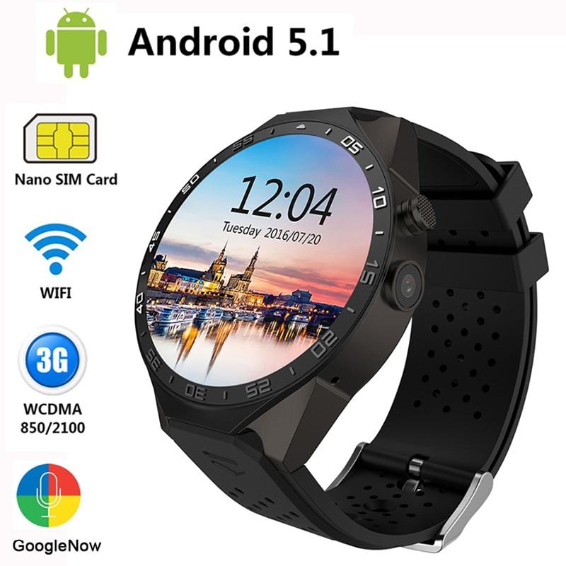 Galleria fotografica KW88 Wifi Smart Montres Android IOS SmartWatch Google Jouer GPS carte podomètres tactile numérique smartwatch pour hommes femmes