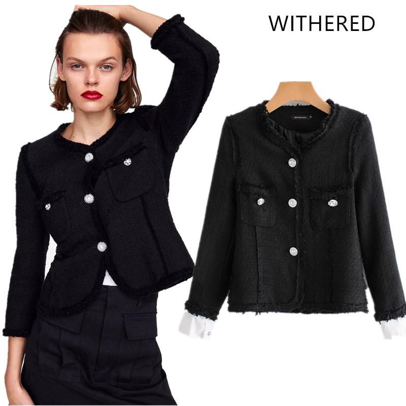 Withered 2018 jacket casaco feminino england style single breasted  patchwork ripper jackets women bomber jacket plus 34e7fd9649e4