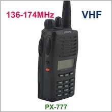 Nova Chegada PUXING PX 777 PX777 Rádio VHF 136 174 MHZ rádio amador