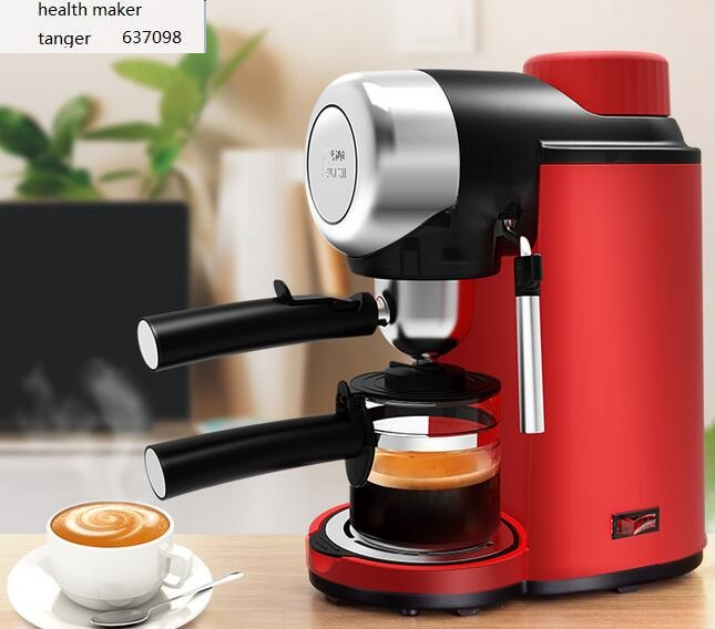 Fxunshi MD-2005 Household Coffee Maker Automatic Italian Steam Pump Espresso Cafe Machine 5bar 0.24l Milk Foam Cafe Pot Red