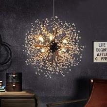 Nordic retro creative Dandelion Chandeliers Firework Vintage Iron snowflake Ceiling Light living room bedroom hanglamp Fixtures