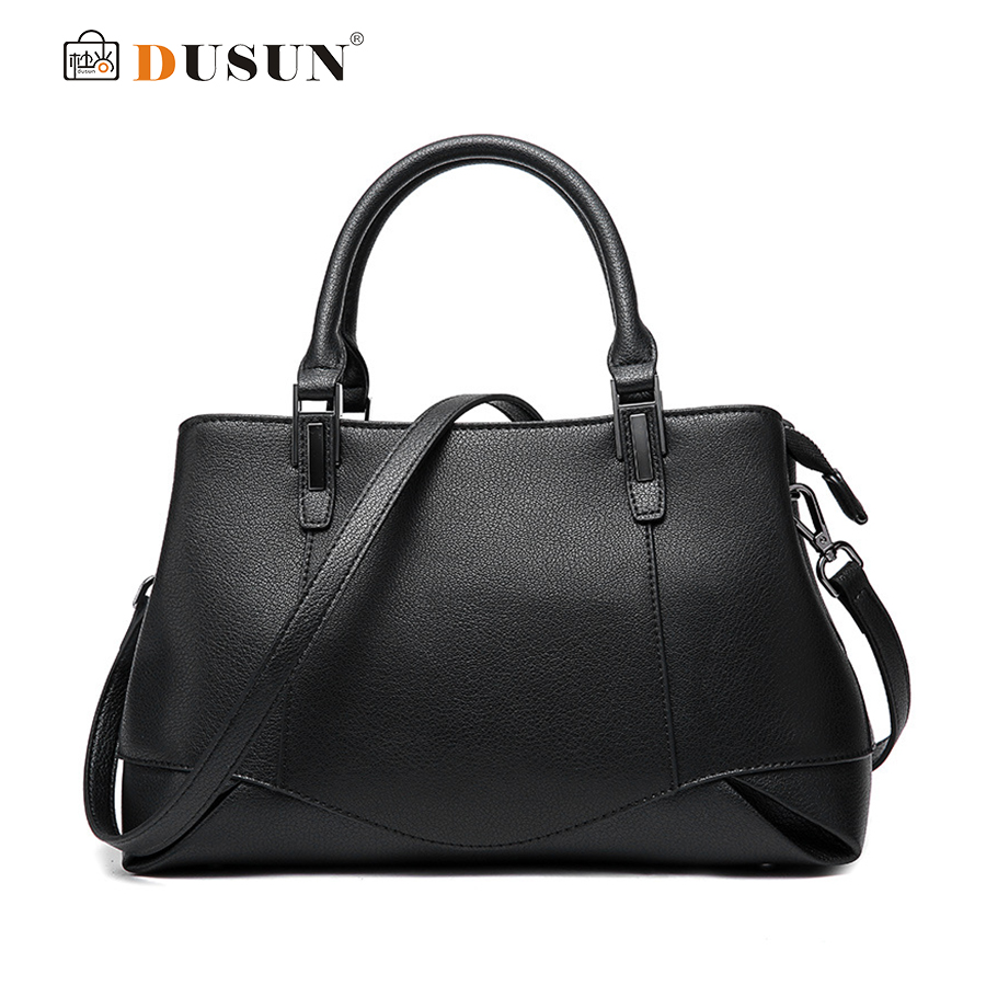 DUSUN Ladies Brand Handbags Women Genuine Leather Shoulder Bag Vintage Messenger Bags Female Designer Bolsa Feminina 2017 brand designer large capacity ladies brown black beige casual tote shoulder bag handbags for women lady female bolsa feminina