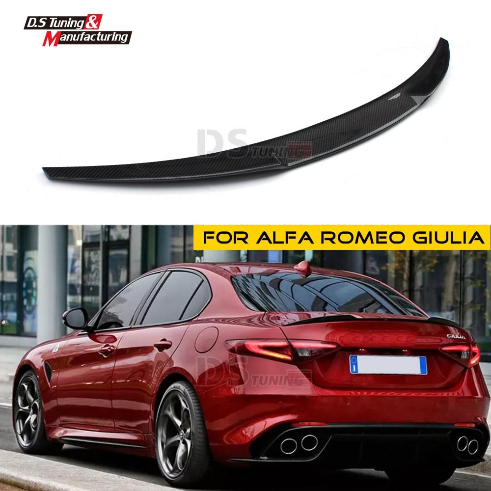 купить OEM Style Carbon Fiber Spoiler Wing Rear Trunk Tail Lip For Alfa Romeo Giulia Type 952 2016 - present 4-door Sedan по цене 6557 рублей