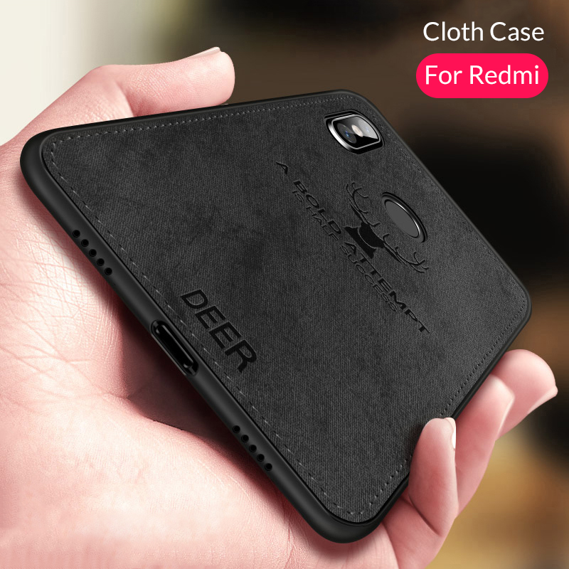 for xiaomi redmi note 7 fabric case back cover