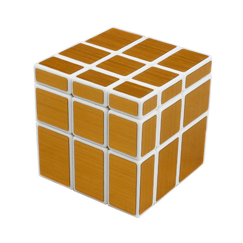 New Magic Cube 3x3x3 Shengshou Mirror Sticker Speed Puzz Magico Profissional Learning & Education Toysle Gold&silver Cubo 100% Guarantee Toys & Hobbies Magic Cubes