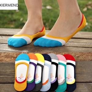 Image 3 - 10 peças = 5 pares novos meias femininas de silicone, invisíveis, antiderrapantes, meias, chinelos de verão agradável meia chinelos