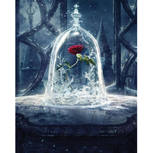5D diy diamond painting Beauty beast rose full square embroidery mosaic cross stitch needleworks H766