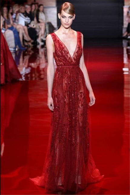Elie Saab Red Prom Dresses