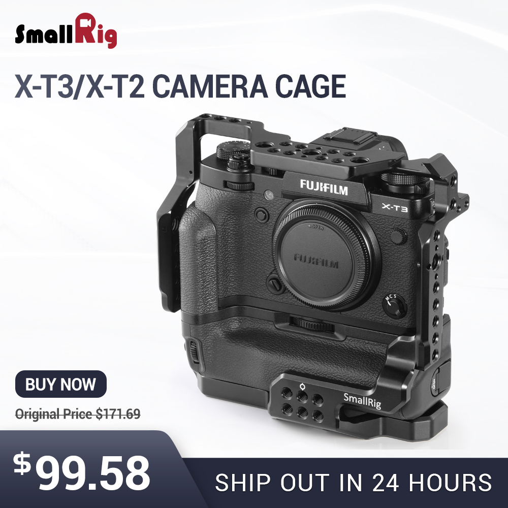 SmallRig DSLR Camera Cage for Fujifilm X T3 for Fujifilm X T2 Camera with Battery Grip