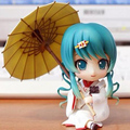 GSC cartoon  Nendoroid Snow Miku Strawberry White Kimono Ver. Hatsune Miku PVC Animation Figure Action Figure Toy 303# T5406