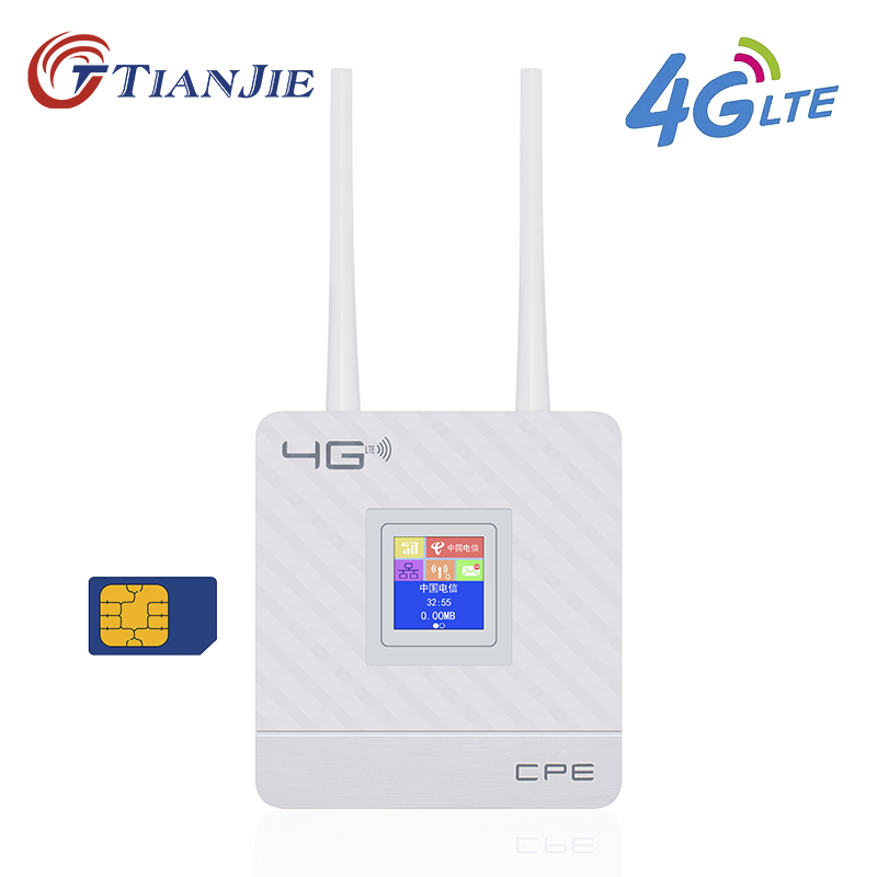 цена TIANJIE CPE903 3G 4G LTE wifi router WAN/LAN Port Dual external antennas Unlocked wireless CPE router With Sim Card Slot