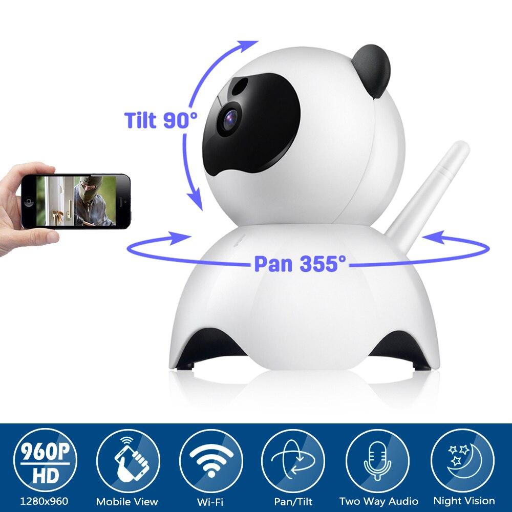 Home Lovely Panda Camera CCTV Security Surveillance 720P 960P Wireless IP Camera Baby Monitor Pan/Tilt 2 Way Audio Night Vision digoo dg m1x hd 960p wired wireless wifi pan tilt night vision two way audio smart home security ip camera onvif baby monitor