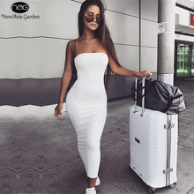 NewAsia Garden 2 Layers 2019 Cotton Summer Dress Women Autumn Maxi Sexy Bodycon Long Dresses White Vestido Midi New