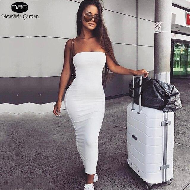 NewAsia Garden 2 Layers 2019 Cotton Summer Dress Women Autumn Maxi Dress  Sexy Bodycon Dress Long af4afc8b183e