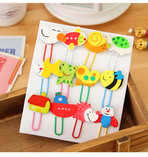 12 PC/Lot Kawaii Colorful Cartoon Animal Clip for School Stationery & Office, HXZ00004