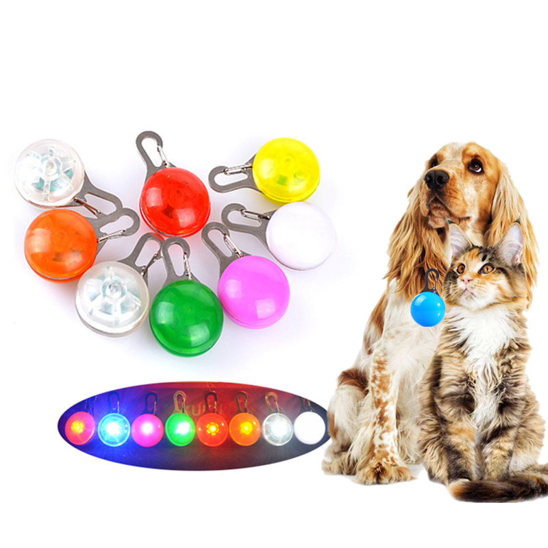 Home & Garden Pet Products Fashion Signal Lamp Glowing Led Collar For Dog Cat Pet Aluminum Waterproof Safety Collar Tag Pendant