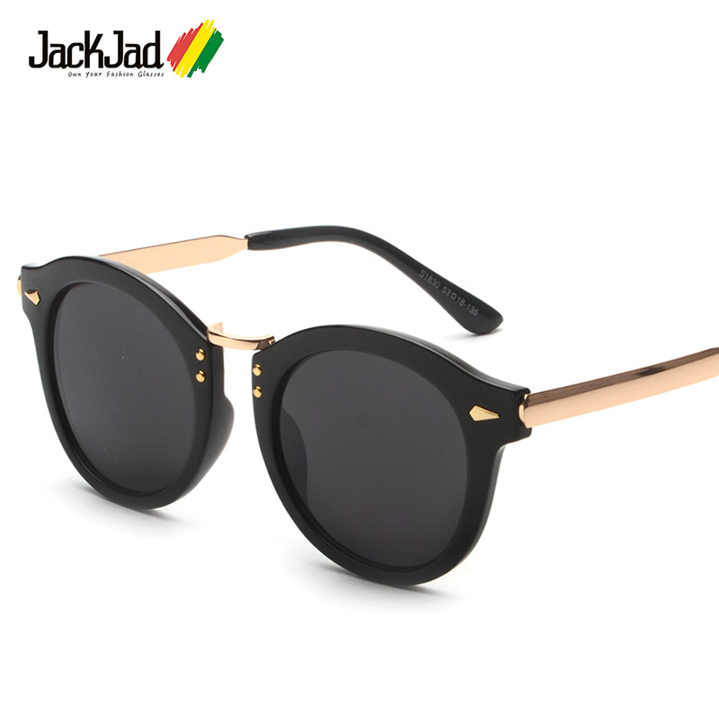 JackJad 2017 Mode Tendance Femmes Vintage Ronde Style Rivet lunettes de  Soleil Cristal Brand Design Lunettes de Soleil Oculos De Sol Feminino 7da4826cb5a9