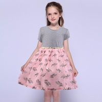 SOGNI KIDS Summer Dresses For Baby Girl Children Princess 1 10 Yrs Toddler Kids Party Cotton