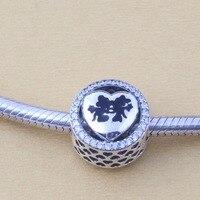 ZMZY Original 925 Sterling Silver Charms Mickey Minnie Love Beads For Pandora Bracelet Jewelry Making