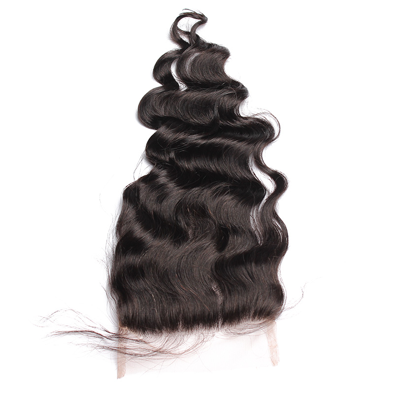 Loose Wave 5x5 Lace Closure Pre Plucked With Baby Hair Dolago Brazilian Human Hair Remy Free/Middle/Three Part